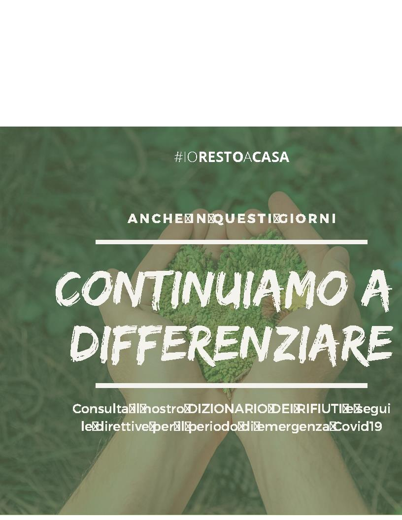 Continuiamo a differenziare